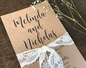 True Love Rustic Wedding Invitation