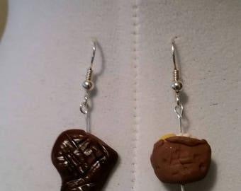 Steak and Potato earrings