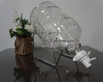 Set of 3 Gallon Glass and Counter Stand (Made in Italy & USA)