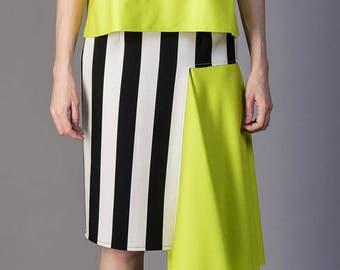 Deconstructed fashion skirt, japanese pattern