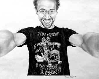 Custom Pencil Drawing - Tom Hiddleston