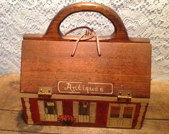 Antique Wood Purse