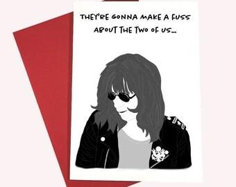 Ramones Valentine Card