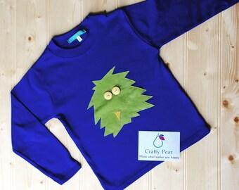 Splat monster applique t shirt