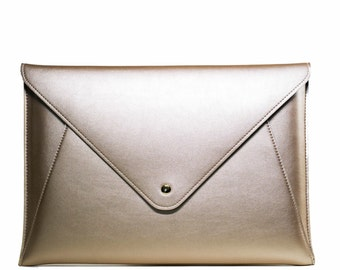 """Matte Gold Laptop Sleeve for Macbook + any 13"""" laptop"""