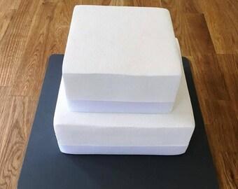"Square Cake Board, Graphite Grey, Mat Finish 3mm Acrylic, Sizes  7"", 9"", 11"", 13"", 15"" & 17"""
