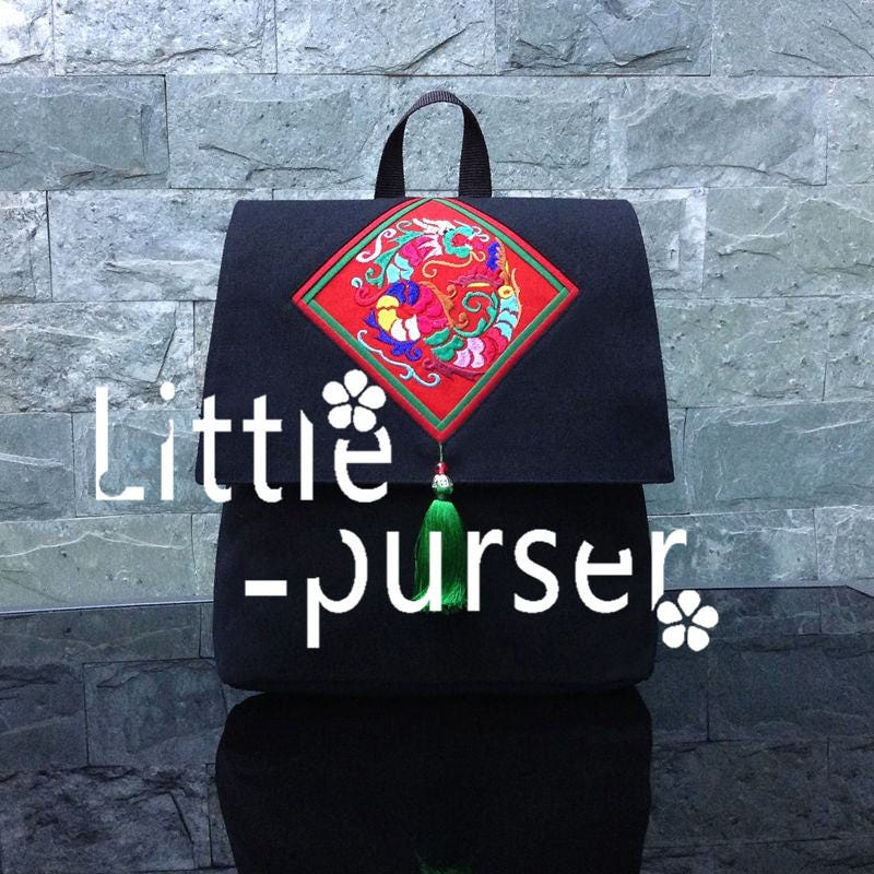 For Girlfriend Upcycled Backpack Canvas Women Bag Vegan College