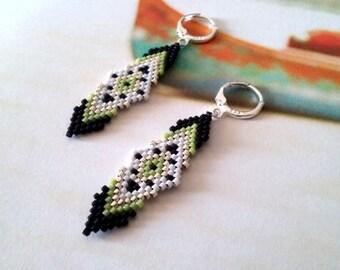 Beaded Earrings- Dangle Earrings - Beadwork