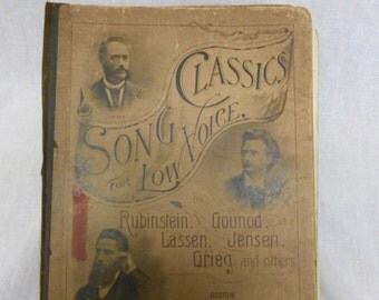 Song Book   Vintage Songs  Song Book for Low Voices