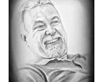 Custom Portrait, Drawing from Photo, Pencil Sketch from Photo, Pencil Drawing from Photo, Personalized Portrait, Black and White Portrait