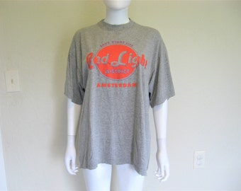 Amsterdamn RED LIGHT District Vintage Tshirt