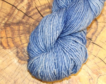 SALE 25% OFF Malabrigo Blue Surf Merino Wool #028 in Aran weight 1 ply yarn, Sky Blue Tonal in 100 gram skein