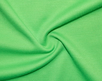 """Green Apple Ponte Di Roma Double Knit Polyester Rayon Spandex Lycra Stretch Medium Weight Apparel Craft Fabric 58""""-60"""" Wide By The Yard"""