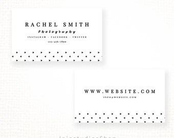 SALE Premade Business Card Template for Photographers - Modern Card - PSD File - Editable bc004 - Instant Download
