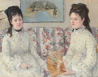 "Berthe Morisot : ""The Sisters"" (1869) - Giclee Fine Art Print"