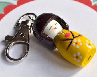 Asian girl keychain