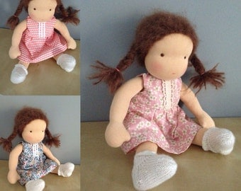 Waldorf doll 16 inch 40 cm choose your favorite dress