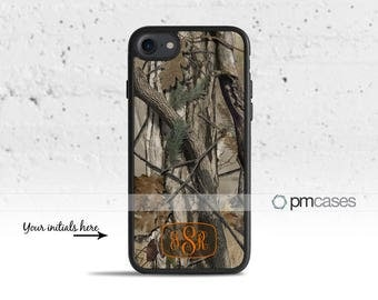 Monogrammed Camouflage Camo Case Cover for Apple iPod Touch & iPhone 4/4s/5/5s/5c/6/6s/7/Plus/SE
