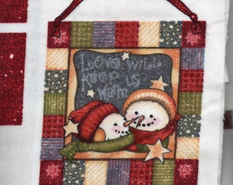 Daisy Kingdom FROSTY FRIENDS DOOR Banner Fabric Panel