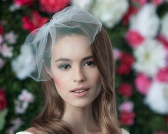 MARIE SMALL - birdcage veil, bird cage veil, blusher veil, tulle bridal birdcage veil, tulle veil, small blusher, small tulle birdcage veil