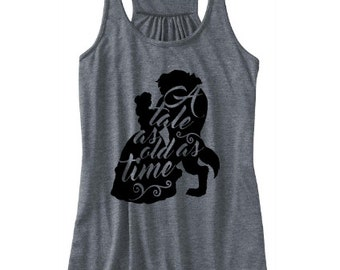 A Tale as Old as Time tank, Beauty and the beast tank, Disney Fan tank, Disney World tank, Disney tank, Belle tank