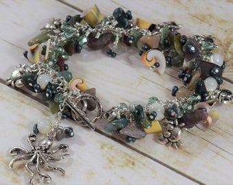 Crabbie Agate Jangle Bracelet