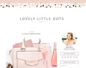 SALE Blogger Template - Premade Blogger Template - Responsive Blogger - Blogger Theme - Fashion Blog Design - Blogger Templates - Feminine B
