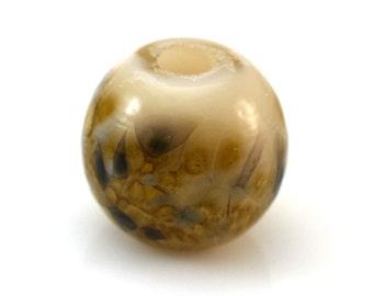 Golden Mist Handmade Glass Lampwork Bead