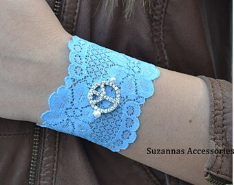 Sky Blue Bracelets,  Lace Wristbands, Blue  Wristband,  Lace Bracelets, Blue  Lace  Bracelet,  Bracelets, Womens Bracelet, Bracelet For Girl