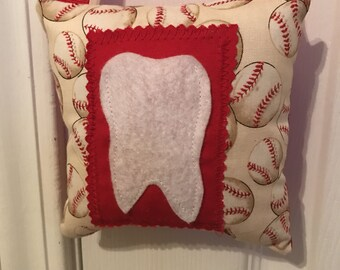 Tooth Fairy Pillow, Baseball Tooth Fairy Pillow
