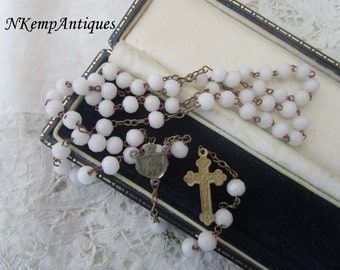 Antique glass rosary 1900