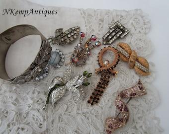 Broken rhinestone jewellery for re-purpose