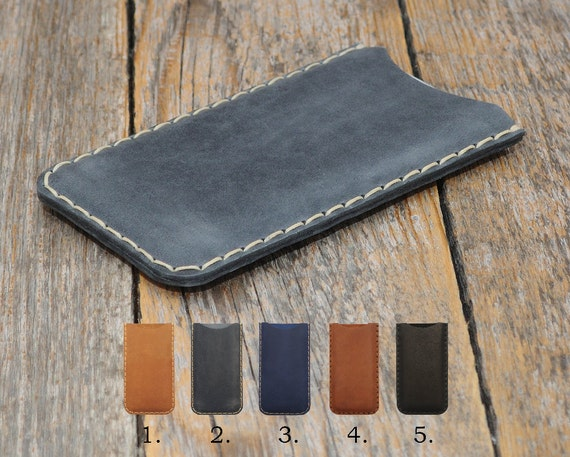 Leather for Microsoft Lumia 650 950 640 550 540 430 XL Dual Cover Pouch Case Sleeve Rough Vintage Look Custom Sizes Available