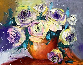 Original Oil Painting On Canvas Board, Palette Knife by Tetiana