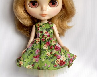 New! Blythe doll Rose garden dress