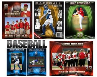 "Baseball ""Heroes"" Custom Templates"