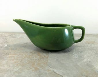 Vintage Ultra Modern Green Bauer Ceramic Gravy Boat - Great Condition