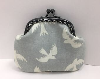 Birds Coin purse with kiss clasp