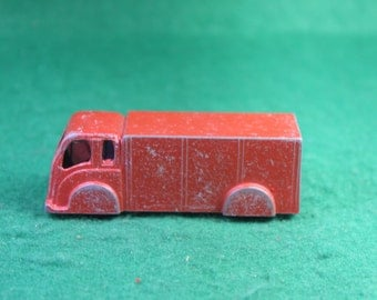 Vintage Sparse Goodee Diecast Toy Red Transport Truck
