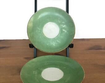 Vintage Paul Muller Selb saucers set of 2 Bavarian porcelain plates