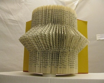 Altered Book Art - Catching Fire Folded!