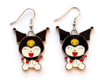 japanese character earrings