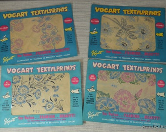 1950's Vogart Textileprint group of 4