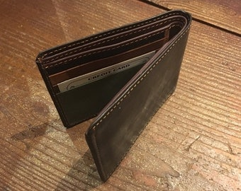 Recycled Leather Wallet Dark Brown