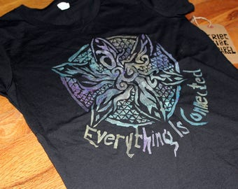 Hand painted Everything is Connected' Women's Eco Tee