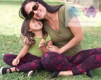 Mommy & Me leggings, matching leggings, mom and daughter sets, children's clothing, matching sets