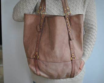 Vintage LEATHER HOBO BAG  women's leather bag............(119)