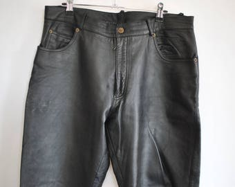 Vintage GIPSY MEN'S LEATHER pants , men's pants .............(013)