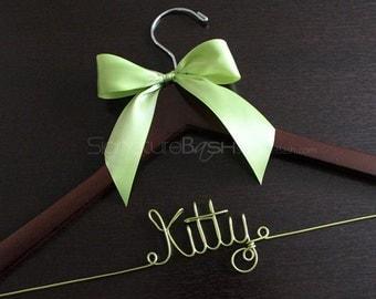 Color Wire Bridal Hangers / Wedding Hangers / Custom Bridal Hangers / Personalized Wedding Hangers