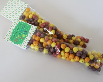 St Patricks Day Party Favors, Trix, Don't fall for any Leprechaun Trix, Bags with Trix, Classroom favors, Leprechaun party, Treat Bags